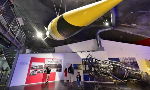 Audomarois, Wizernes, un misile jaune exposé à la coupole